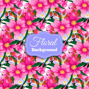 Fundo de flores cor-de-rosa