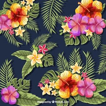 Fundo de flores multicoloridas