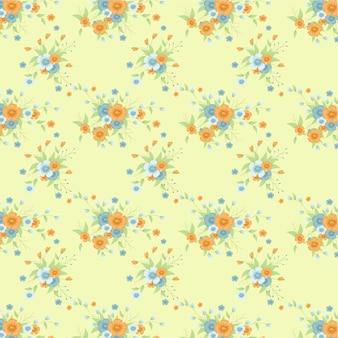 Fundo de flores vintage. Fundo Shabby Vector