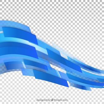 Fundo de formas abstratas azuis