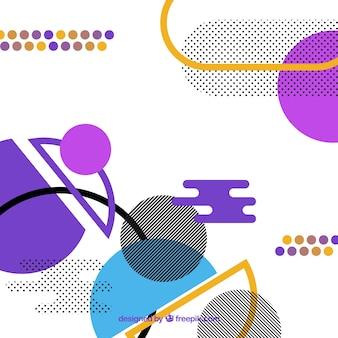 Fundo de formas geométricas modernas