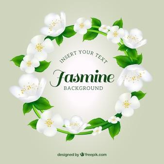Fundo de grinalda de jasmim