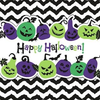 Fundo de Halloween das abóboras alegres