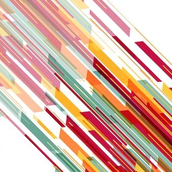 Fundo de linhas geométricas coloridas modernas