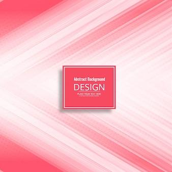 Fundo de linhas rosa moderno
