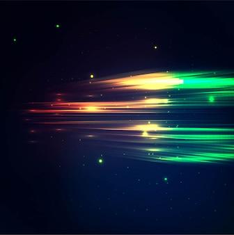 Fundo de luzes coloridas modernas