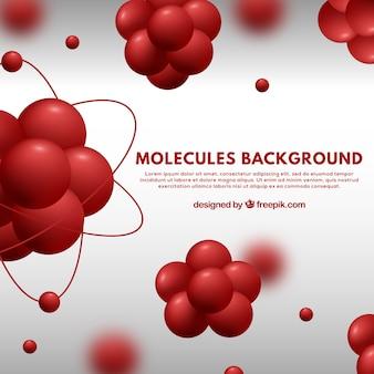 Fundo de moléculas vermelhas