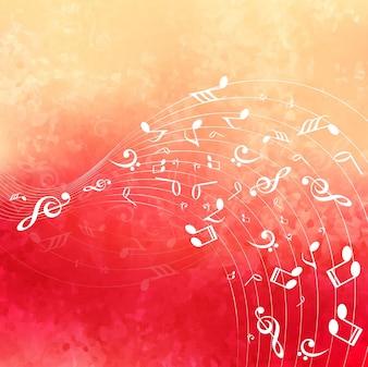 Fundo de música colorido moderno