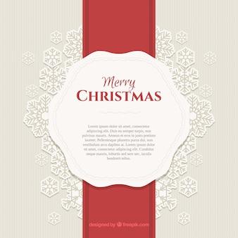 Fundo de Natal com estilo vintage