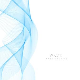 Fundo de onda azul elegante e abstrato