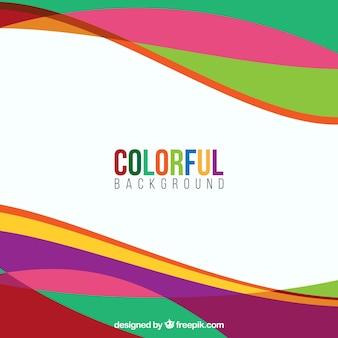 Fundo de ondas coloridas