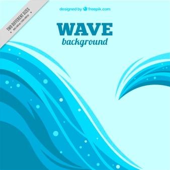Fundo de ondas com um design irregular