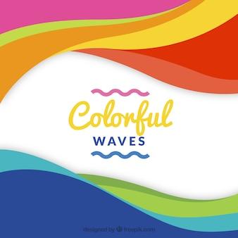 Fundo de ondas multicoloridas