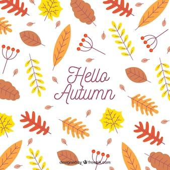 Fundo de outono com folhas coloridas