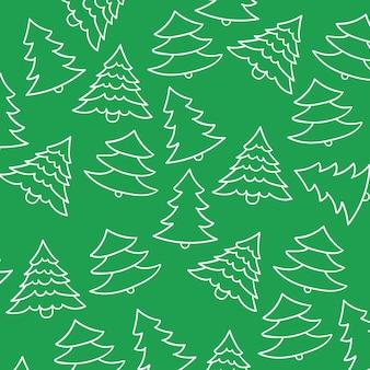 Fundo de padrão de árvore de natal