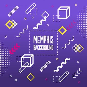 Fundo de padrão de cores Memphis