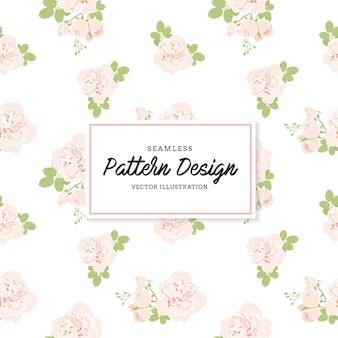Fundo de padrão de flores cor-de-rosa