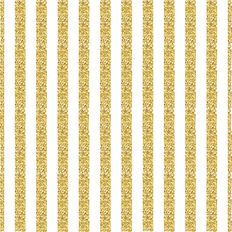 Fundo de padrão de franja de glitter branco e ouro transparente