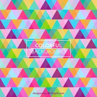 Fundo de padrão de triângulos multicoloridos