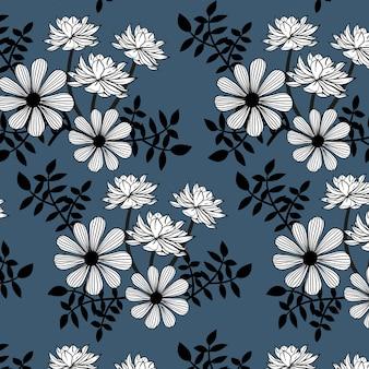 Fundo de padrão floral