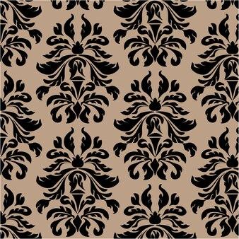 Fundo de padrão ornamental preto
