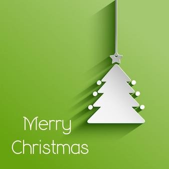 Fundo de papel da árvore de Natal