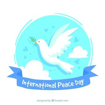Fundo de paz pomba