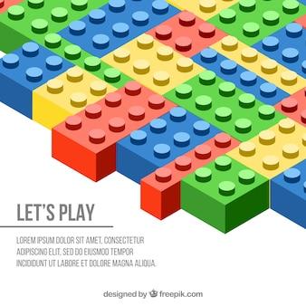 Fundo de peças coloridas para construir