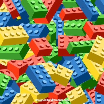 Fundo de peças coloridas