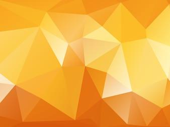 Fundo de polígono de laranja