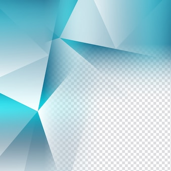 Fundo de polígono transparente de cor azul elegante
