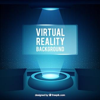 Fundo de realidade virtual abstrato na cor azul