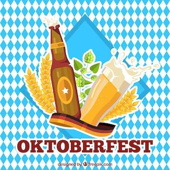 Fundo de rombos do festival mais oktoberfest