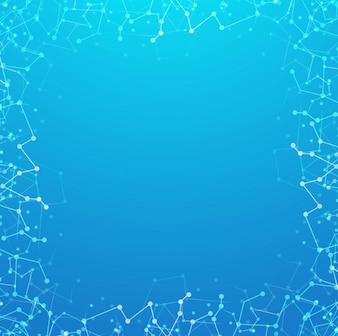 Fundo de tecnologia azul