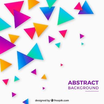 Fundo de triângulos coloridos