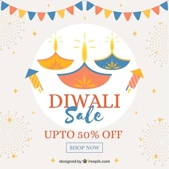 Fundo de venda de diwali criativo