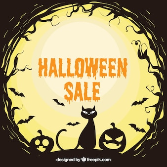 Fundo de venda de Halloween assustador
