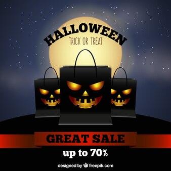 Fundo de venda escuro do Halloween