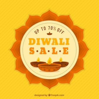Fundo de vendas de diwali floral