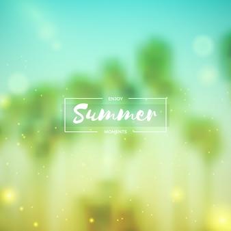 Fundo de verão borrado