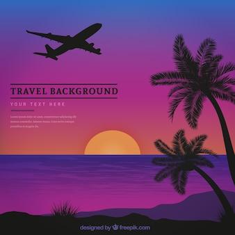 Fundo de viagem de férias