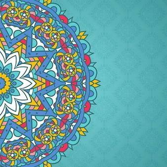 Fundo decorativo com design colorido mandala