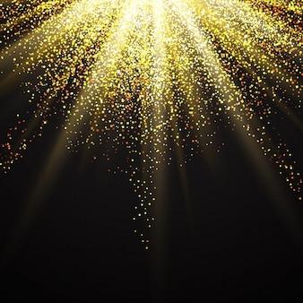 Fundo decorativo com um design glittery starburst