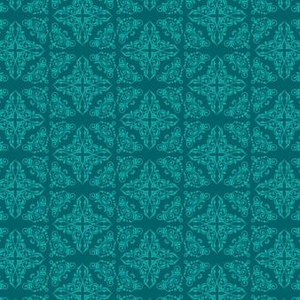 Fundo decorativo com um padrão de estilo do damasco