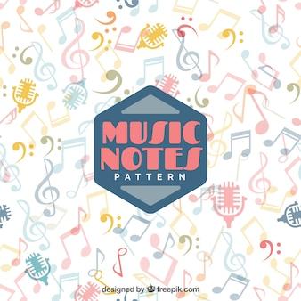 Fundo decorativo de notas musicais