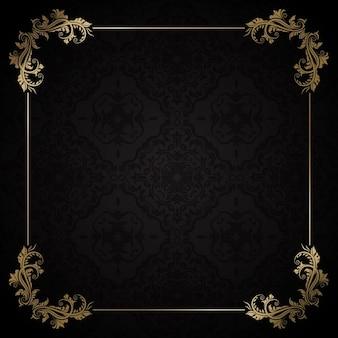 Fundo decorativo elegante com frame do ouro