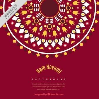 Fundo decorativo geométrico Ram Navami