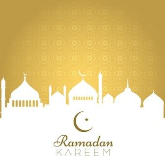 Fundo decorativo para o Ramadã