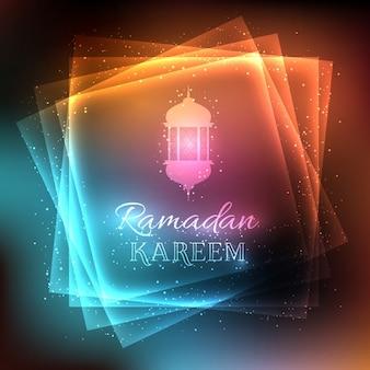 Fundo decorativo para o Ramadan com luzes brilhantes