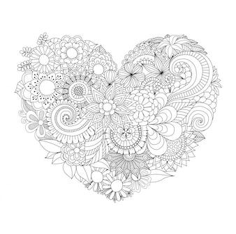 Fundo desenhado mão do coração